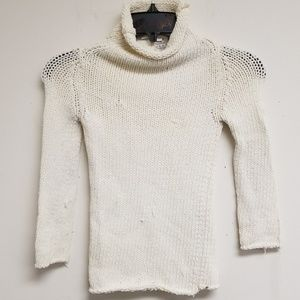 Dolce & Gabbana White Turtleneck Sweater Size 40